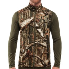 Icebreaker RealFleece 260 Sierra Camo Vest - Merino Wool, UPF 30+ (For Big and Tall Men) in Mossy Oak Camo - Closeouts
