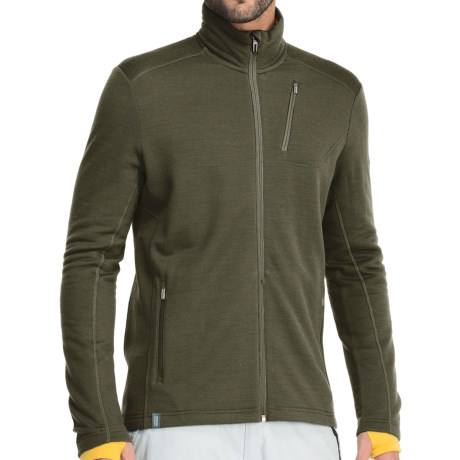 Icebreaker RealFleece 260 Sierra Jacket- Merino Wool, Full Zip (For Men) in Cargo