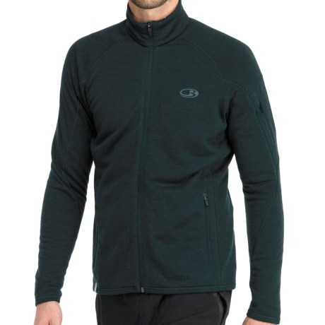 Icebreaker RealFleece 260 Sierra Jacket- Merino Wool, Full Zip (For Men)