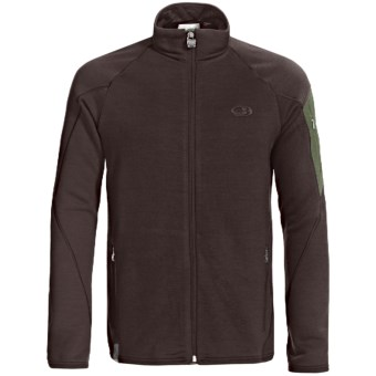 Icebreaker RealFleece 260 Sierra Jacket- Merino Wool, Full Zip (For Men) in Oak/Spruce