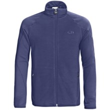 Icebreaker RealFleece 260 Sierra Jacket- Merino Wool, Full Zip (For Men) in Planet/Dark Planet - Closeouts