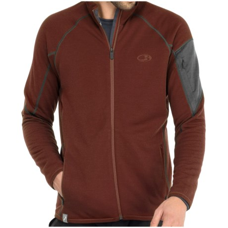 Icebreaker RealFleece 260 Sierra Jacket- Merino Wool, Full Zip (For Men) in Nova