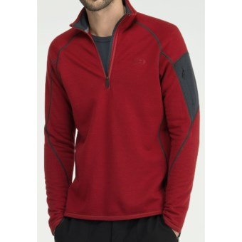 Icebreaker RealFleece 260 Sierra Shirt - Merino Wool, Zip Neck, Long Sleeve (For Men) in Mars/Monsoon