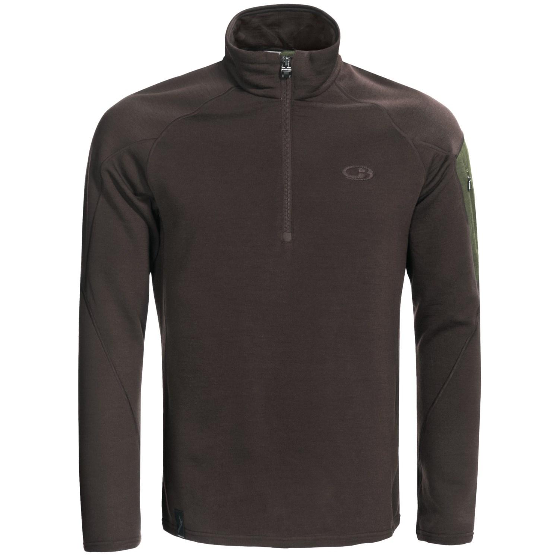 Icebreaker realfleece 260 sierra shirt merino wool zip for Merino wool shirt long sleeve
