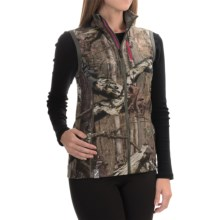 Icebreaker RealFLEECE® Cascade Vest - Merino Wool, UPF 30+ (For Women) in Break-Up Infinity/Berry - Closeouts