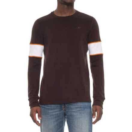 Icebreaker Remarkables Crew Shirt - Merino Wool, Long Sleeve (For Men) in Ebony/Snow/Copper - Closeouts