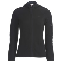 Icebreaker RF260 Cascade Hooded Jacket - Merino Wool, Full Zip, Long Sleeve (For Women) in Black - Closeouts