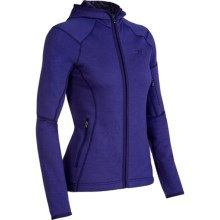 Icebreaker RF260 Cascade Hooded Jacket - Merino Wool, Full Zip, Long Sleeve (For Women) in Horizon - Closeouts