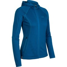 Icebreaker RF260 Cascade Hooded Jacket - Merino Wool, Full Zip, Long Sleeve (For Women) in Isle - Closeouts