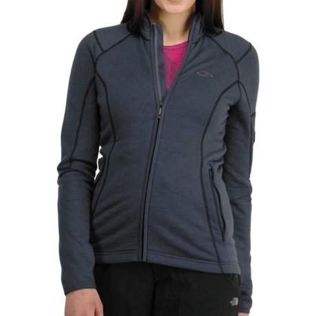 Icebreaker RF260 Cascade Jacket - Merino Wool, Full Zip, Long Sleeve (For Women) in Panther/Cerise