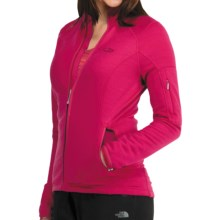 Icebreaker RF260 Cascade Jacket - Merino Wool, Full Zip, Long Sleeve (For Women) in Ruby - Closeouts