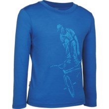Icebreaker Rider Shirt - Merino Wool, UPF 39+, Long Sleeve (For Boys) in Pelorus - Closeouts