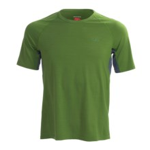 Icebreaker Roto Cycling Jersey - Merino Wool, Short Sleeve (For Men) in Jungle/Pewter - Closeouts
