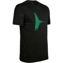 Icebreaker Ruapehu Tech T Lite T-Shirt - Merino Wool, Short Sleeve (For Men) in Black - Closeouts
