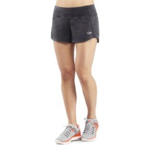Icebreaker Run Dart Shorts - Stretch Merino Wool, Built-In Briefs (For Women) in Panther - Closeouts