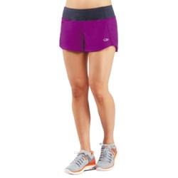 Icebreaker Run Dart Shorts - Stretch Merino Wool, Built-In Briefs (For Women) in Vivid/Panther