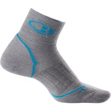 Icebreaker Run Light Cushion Mini Socks - Merino Wool, Quarter Crew (For Women) in Twister/Cruise/Twister - 2nds