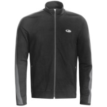 Icebreaker Run Tracer Jacket - Merino Wool (For Men) in Black/Monsoon - Closeouts
