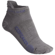 Icebreaker Run Ultralite Micro Socks - Merino Wool, Below-the-Ankle (For Women) in Twister/Wisteria - 2nds