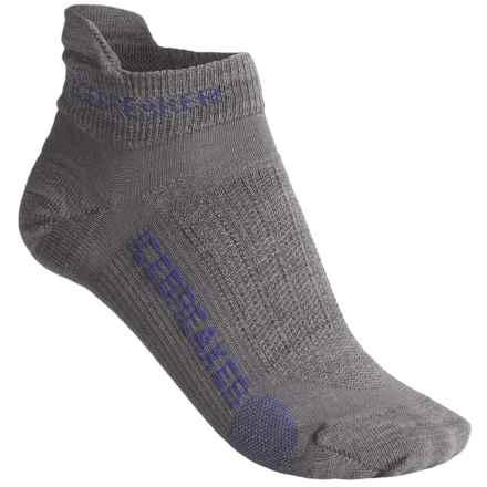 Icebreaker Run Ultralite Micro Socks - Merino Wool, Below-the-Ankle (For Women) in Twister/Wisteria - 2nds