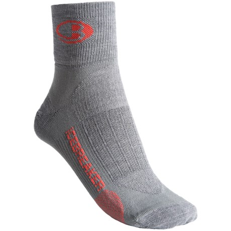 Icebreaker Run Ultralite Mini Socks - Merino Wool, Ankle (For Women) in Twister/Azalea/Twister