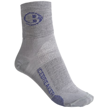 Icebreaker Run Ultralite Mini Socks - Merino Wool, Ankle (For Women) in Twister/Horizon/Twister