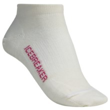 Icebreaker Run Ultralite Socks - Merino Wool, Low Cut (For Women) in White - 2nds