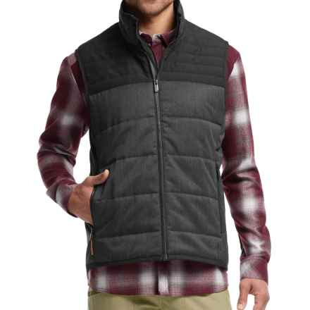 Icebreaker Scout MerinoLOFT Insulated Vest - Merino Wool-Organic Cotton (For Men) in Jet Heather/Black - Closeouts