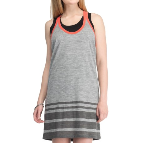 Icebreaker SF150 Cruise Tank Dress - Merino Wool, Racerback, Sleeveless (For Women) in Metro/Azalea
