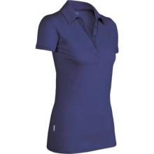 Icebreaker SF150 Tech Polo Shirt - Merino Wool, Short Sleeve (For Women) in Cosmic - Closeouts