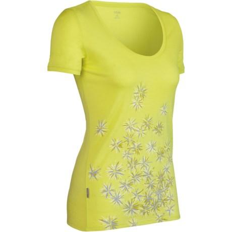 Icebreaker SF150 Tech Scatter Print Shirt - Merino Wool, Short Sleeve (For Women)