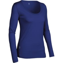 Icebreaker SF150 Tech Shirt - Merino Wool, Scoop Neck, Long Sleeve (For Women) in Cosmic - Closeouts