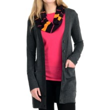Icebreaker SF200 Cruise Cardigan Sweater - UPF 50+, Merino Wool (For Women) in Jet - Closeouts