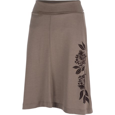 Icebreaker SF200 Maya Skirt - Merino Wool (For Women) in Sable