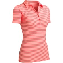 Icebreaker SF200 Stripe Tech Polo Shirt - Merino Wool, Short Sleeve (For Women) in Azalea/Mimosa - Closeouts
