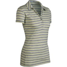 Icebreaker SF200 Stripe Tech Polo Shirt - Merino Wool, Short Sleeve (For Women) in Cirtine - Closeouts