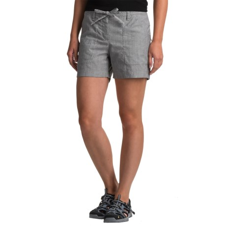 Icebreaker Shasta Shorts - Merino Wool (For Women) in Jet Heather