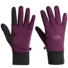Icebreaker Sierra Gloves - Merino Wool (For Men and Women) in Maroon - Closeouts