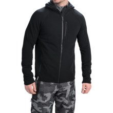 Icebreaker Sierra Hooded Jacket - Merino Wool (For Men) in Black/Black - Closeouts