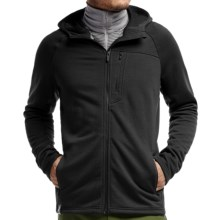 Icebreaker Sierra Plus RealFleece Jacket - Merino Wool (For Men) in Black - Closeouts