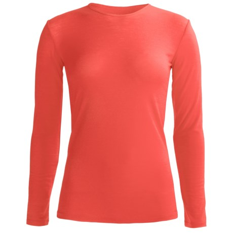 Icebreaker Siren Bodyfit 150 Base Layer Top - UPF 50+, Merino Wool, Long Sleeve (For Women) in Azalea