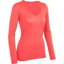 Icebreaker Siren Sweetheart Base Layer Top - Merino Wool, UPF 30+, Lightweight, Long Sleeve (For Women) in Azalea - Closeouts