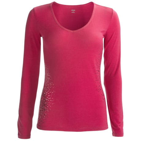 Icebreaker Siren Sweetheart Bodyfit 150 Base Layer Top - Merino Wool, Long Sleeve (For Women) in Cherub