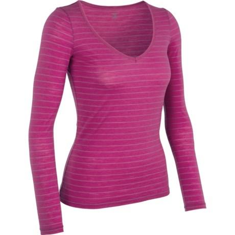 Icebreaker Siren Sweetheart Bodyfit 150 Base Layer Top - Merino Wool, Long Sleeve (For Women) in Magenta