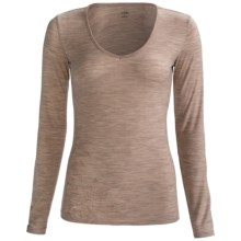 Icebreaker Siren Sweetheart Bodyfit 150 Base Layer Top - Merino Wool, Long Sleeve (For Women) in Naked - Closeouts