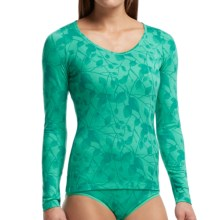 Icebreaker Siren Sweetheart Photo Flower Base Layer Top - Merino Wool, Long Sleeve (For Women) in Patina - Closeouts