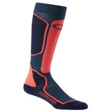 Icebreaker Ski + Lite Socks - Merino Wool Blend, Over the Calf (For Women) in Largo/Admiral/Azalea - Closeouts