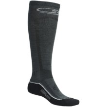 Icebreaker Ski Lite Socks - Merino Wool, Over-the-Calf (For Men) in Dark Grey/Black - 2nds