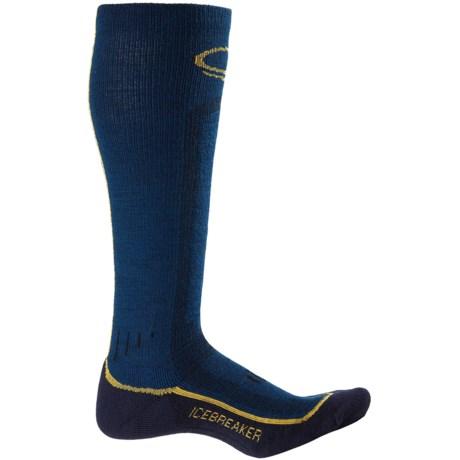 Icebreaker Ski Lite Socks - Merino Wool, Over-the-Calf (For Men) in Largo/Harvest/Admiral