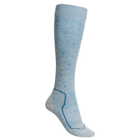 Icebreaker Ski Lite Socks - Merino Wool, Over-the-Calf (For Women) in Snowflake Bone